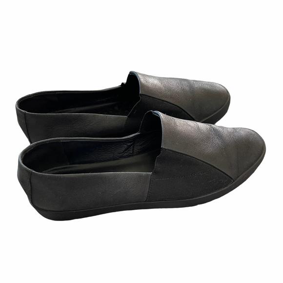 Eileen Fisher Minimalist Leathery Slip Ons